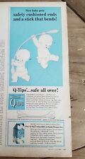 1962 Q-tips cotton swabs baby diaper cushioned ends ad