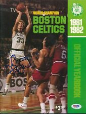 Larry Bird Signed 1981/82 Celtics Yearbook Autograph Auto PSA/DNA AE47515