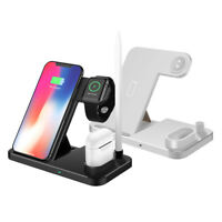 4in1 Qi Wireless Charger Dock Pad For Apple Watch 1/2/3/4 AirPods iPhone 8 X XS