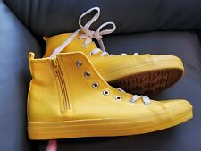 High top Yellow pumps rubber fabric size 39 6 uk