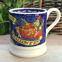 EMMA BRIDGEWATER . Halloween . 1/2 pint MUG . Autumn Pumpkins Ghost Bats Wizard
