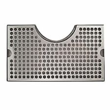Stainless Steel Tower Cutout Draft Beer Drip Tray, No Drain, Removable Grate