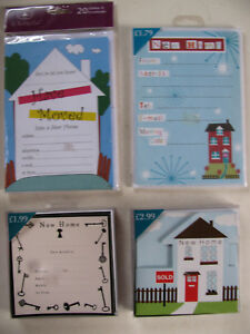 New Home Change Of Address Cards Moving House Notifications Family Friends Party