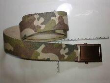 cintura 4 cm MIMETICA CON  fibbia RAME militare COLOR ARGENTO military belt man