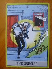 POSTCARD / ADVERTISING CARD...HOME INSURANCE..CREDIT UNION...CAT BURGLAR..THIEF