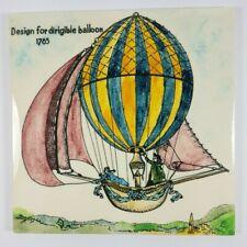 More details for retro hereford tiles ltd design for dirigible balloon 1765 ceramic tile 6