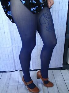 Patterned Ribbed Tights 40 Den Semi Opaque Colored Tights Fashion Tights
