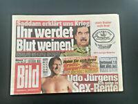 BILD ZEITUNG vom 19. März 2003 als Geschenk zum 18. Geburtstag mit UDO JÜRGENS