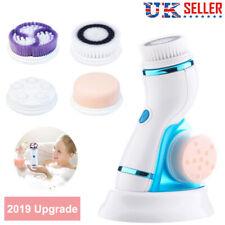 Facial Cleansing Brush 4 in1 Waterproof Electric Face Body Exfoliating Brush Set