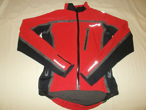 ENDURA FULL ZIP REFLECTIVE RED CYCLING JACKET WOMENS MEDIUM EXCELLENT CONDITION