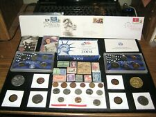New listing Huge Junk Drawer Coin Lot 2004 Proof Set Indian Head Lot Half Dollars 1st Day