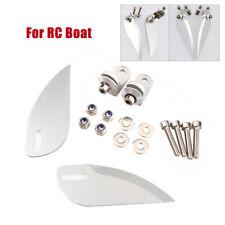 Adjustable Aluminum Turn Fins 57mm For Rc Boat Length 75cm Ft012 / Ft011 Upgrade