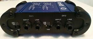 Oqan QDI-400 Stereo DI Box Passivo a Due Canali con Attenuatori di Linea
