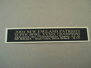 New England Patriots Super Bowl 39 Nameplate For A Football Jersey Case 1.25X6