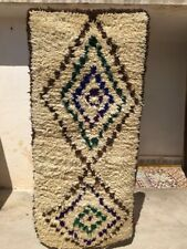 "Authentic Moroccan Azilal Handmade Rug #M33 5'8"" x 2'6"" Wool Berber Tribal"