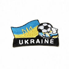 UKRAINE WITH TRIDENT.. KICK COUNTRY FLAG EMBROIDERED IRON-ON PATCH CREST BADGE