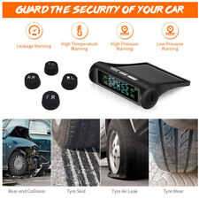 Solar Wireless TPMS LCD Car Tire Pressure Monitoring System+4 External Sensors L