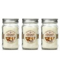 Set Of 3 Hosley Coconut Macaroon Scented Bath And Body Works Jar Candles 11 Oz