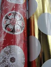 2 Huge Rolls of Christmas Wrapping Paper