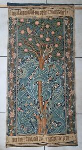 William Morris Strawberry Thief Fine Art Wall Tapestry, 100 x 50 cm