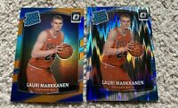 2017-18 Lauri Markkanen Panini Donruss Optic Orange /199 Rookie and Optic Shock