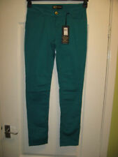 Cotton/Elastane Green Jeans for Women