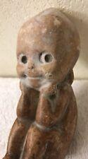 "Antique Rare Kewpie Doll Figurine ""The Thinker"" 1913 Stone or Chalk Compound"