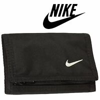 Nike Wallet Black Credit Card Holder Zip Purse Coins Cash Mens Womens Unisex