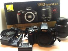 Nikon D60 DSLR Camera - with Nikkor 18-55mm VR Lens Free Shipping
