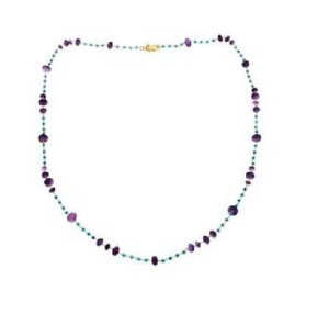 "Rarities Vermeil Faceted Amethyst And Bead 40"" Layering Necklace Hsn $154"