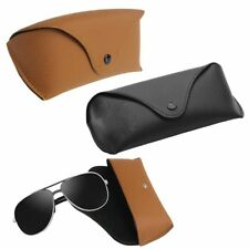 Tragbar Abdeckung Leder Lagerung Brillenbox Sonnenbrillen Fall Eyewear Holder