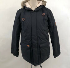 Globe Men's Puffy Parka Hooded Jacket Hobson Ink Size S NWT Faux Fur Sherpa