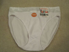 Warners ladies panties cotton lace hi cut brief size 9 2XL style# RT2091P