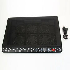 "LED USB 6 Fans Cooling Cooler Pad Stand Radiator for 12""-17"" Laptop Notebook PC"
