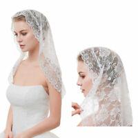 One-Layer Women Short Wedding Veil Delicate Crochet Lace Bridal Veil Face Cover