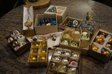 Konvolut Weihnachtsschmuck antik Vögel Lichterkette Vintage Baumspitze...