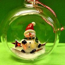 1 Weihnachtsbaumkugel Christbaumschmuck Weihnachten Kugel Figur Schneemann