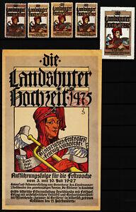 kleinplakat 1927 festzug landshuter hochzeit 1475, reklamemarken 1905-1913 /0925