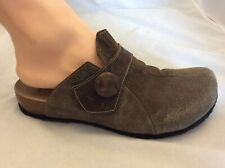 Think! Size 41 Slip On Mule Shoes Suede Embossed Leather