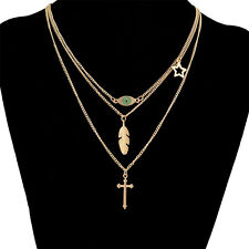 Fashion Jewelry Chain Pendant Crystal Charm Choker Chunky Statement Bib Necklace
