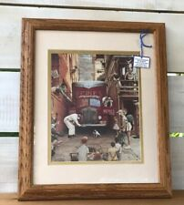 Norman Rockwell Framed Pepies Dog Stopping Traffic Audience Artist Musicians