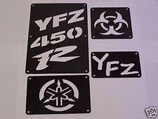 Yamaha YFZ 450 450R Fender Warning Tags Black /NO decal 2004 - 2013