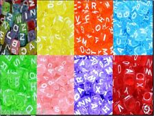 cube colourful assorted acrylic letter/alphabet beads 6mm, 7mm mixed in random