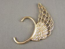 Gold tone angel wing over the ear wrap cuff earring Rock Punk Gothic style