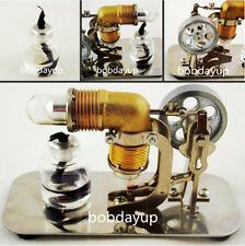 Mini Hot Air Stirling Engine Model Motor Electricity Education Toy HA001 B