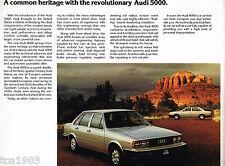 1979 / 1980 AUDI 4000 Series Brochure / Catalog / Prospekt