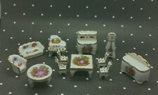 Vintage limoges porcelain miniatures set doll house - lot t2t