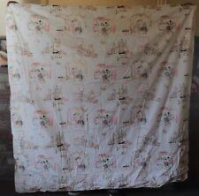 """Vintage Unused """"Pink Poodles"""" 70""""x 72"""" Vinyl Shower Curtain"""