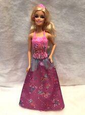 Barbie Fairytale Magic Princess Barbie Doll Purple Dress Up Doll Glitter Boddic