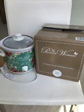 Pioneer Woman Home Kitchen Crock Pot 1.5 Quart Slow Cooker Vintage Floral Green